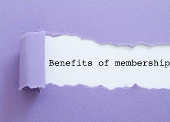 Benefits of membership written under torn paper.